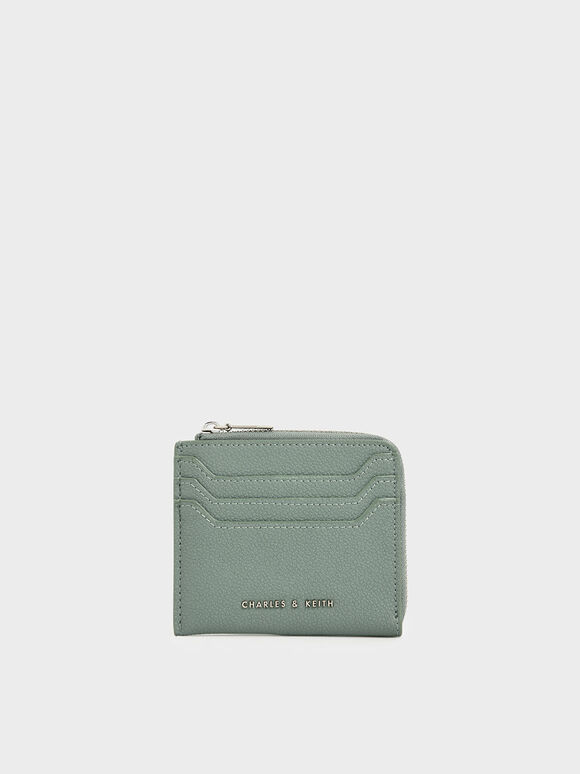 Small Zip Pouch, Sage Green, hi-res