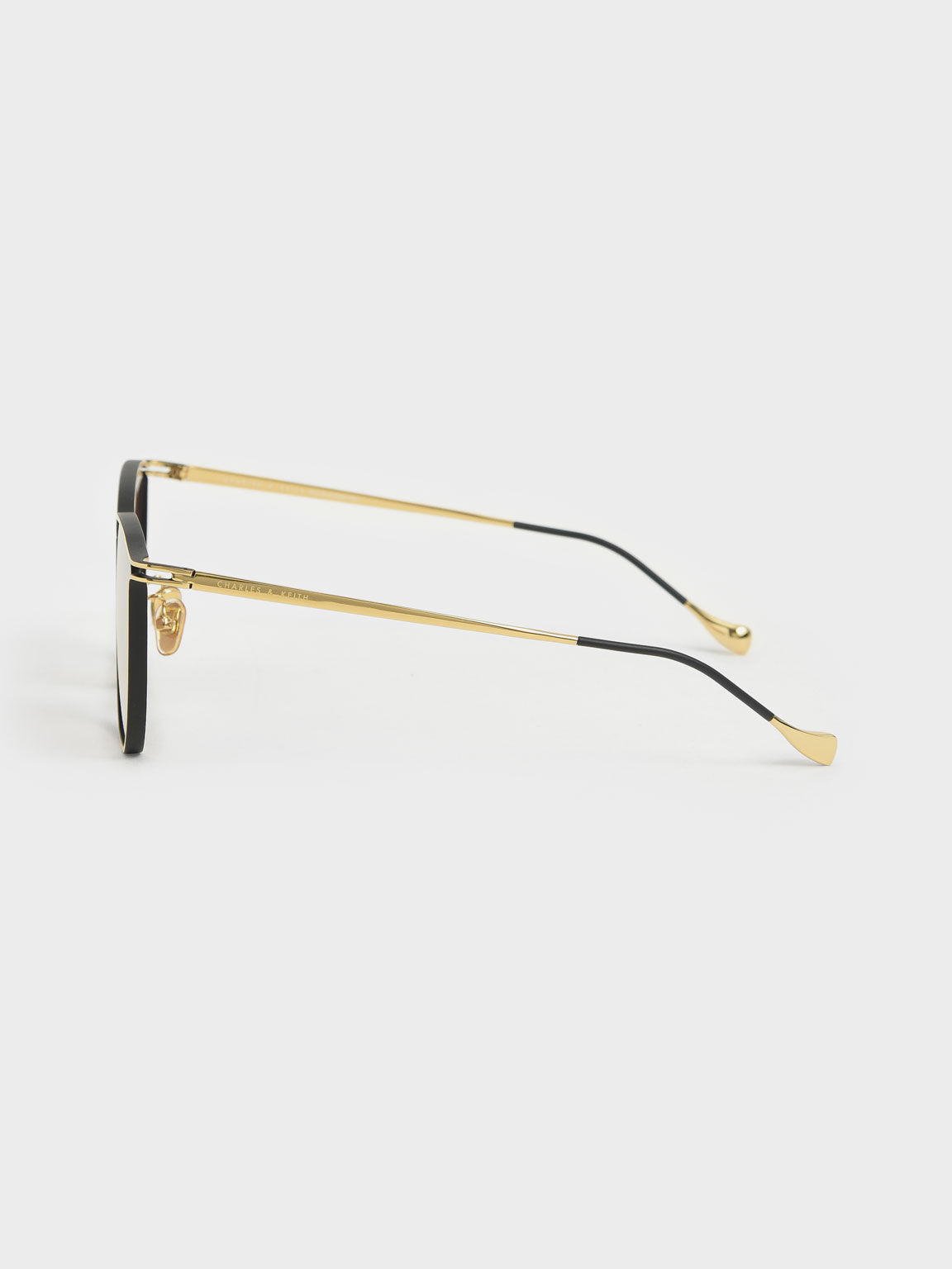 Two-Tone Wire Frame Butterfly Sunglasses, Gold, hi-res
