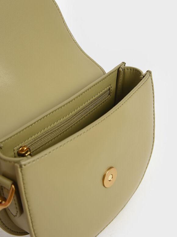 Mini Gabine Saddle Bag, Khaki, hi-res