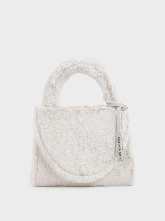 Textured Structured Bag, Cream, hi-res