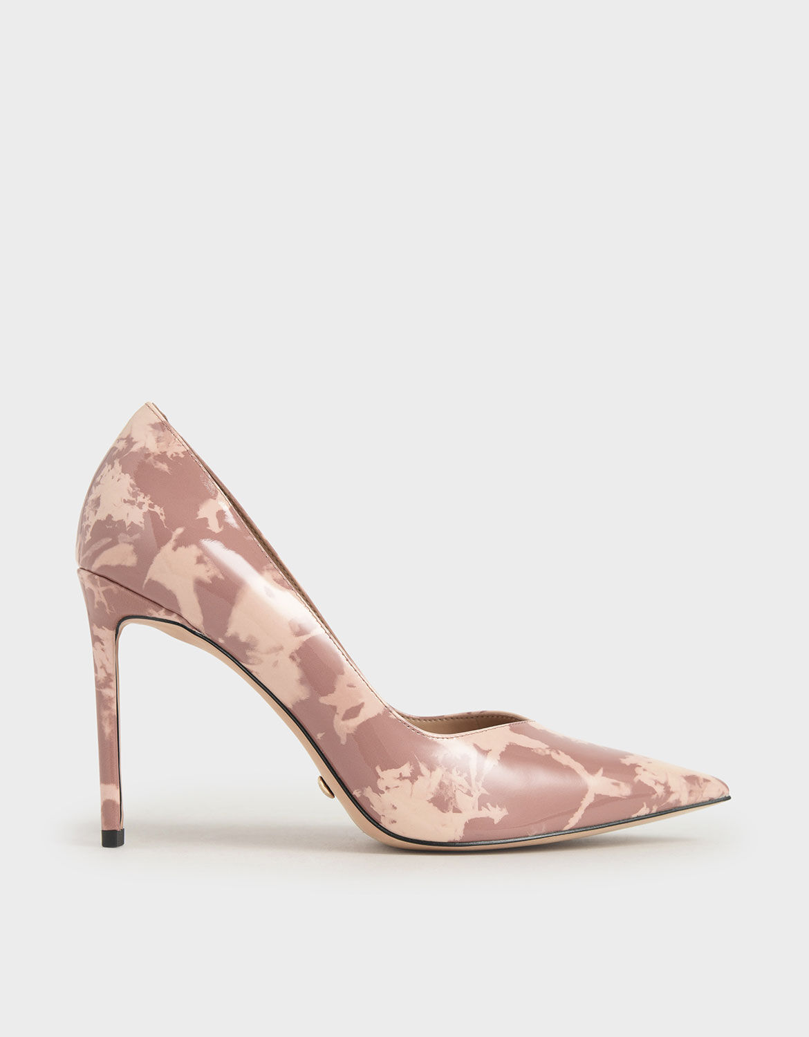 Blush Patent Leather Printed Pointed