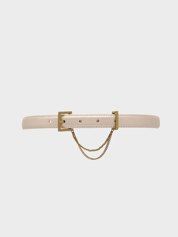 Chain Link Mid Waist Belt, Gold, hi-res