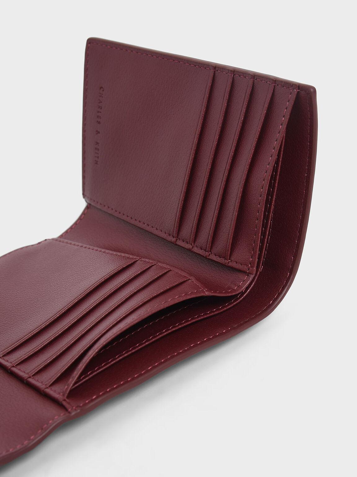 Mini Short Envelope Wallet, Burgundy, hi-res