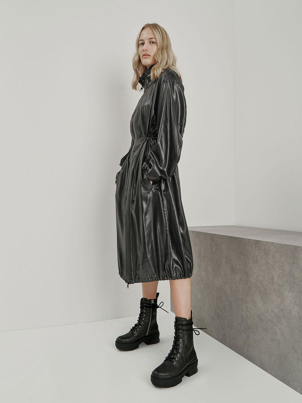 Lace Up Combat Boots, Black, hi-res