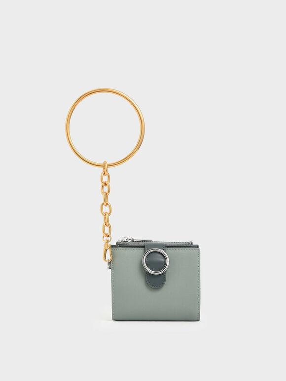 Small Bracelet Wallet, Sage Green, hi-res