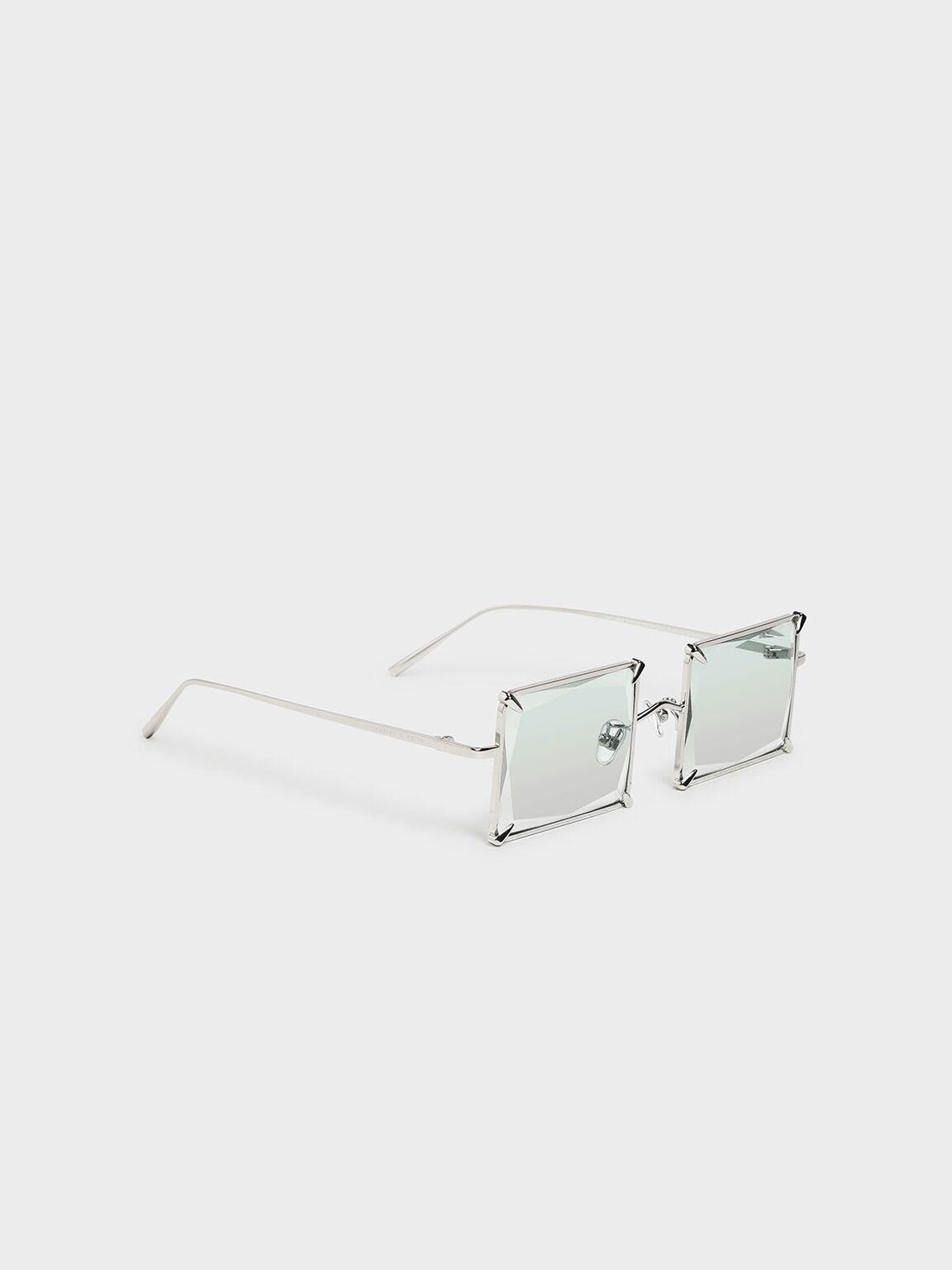 Square Wire Frame Sunglasses, Multi, hi-res