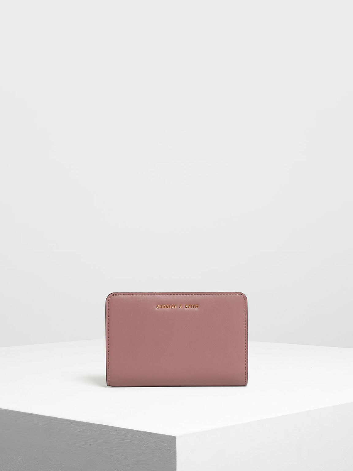 經典拉鍊式皮夾, 紫灰色, hi-res