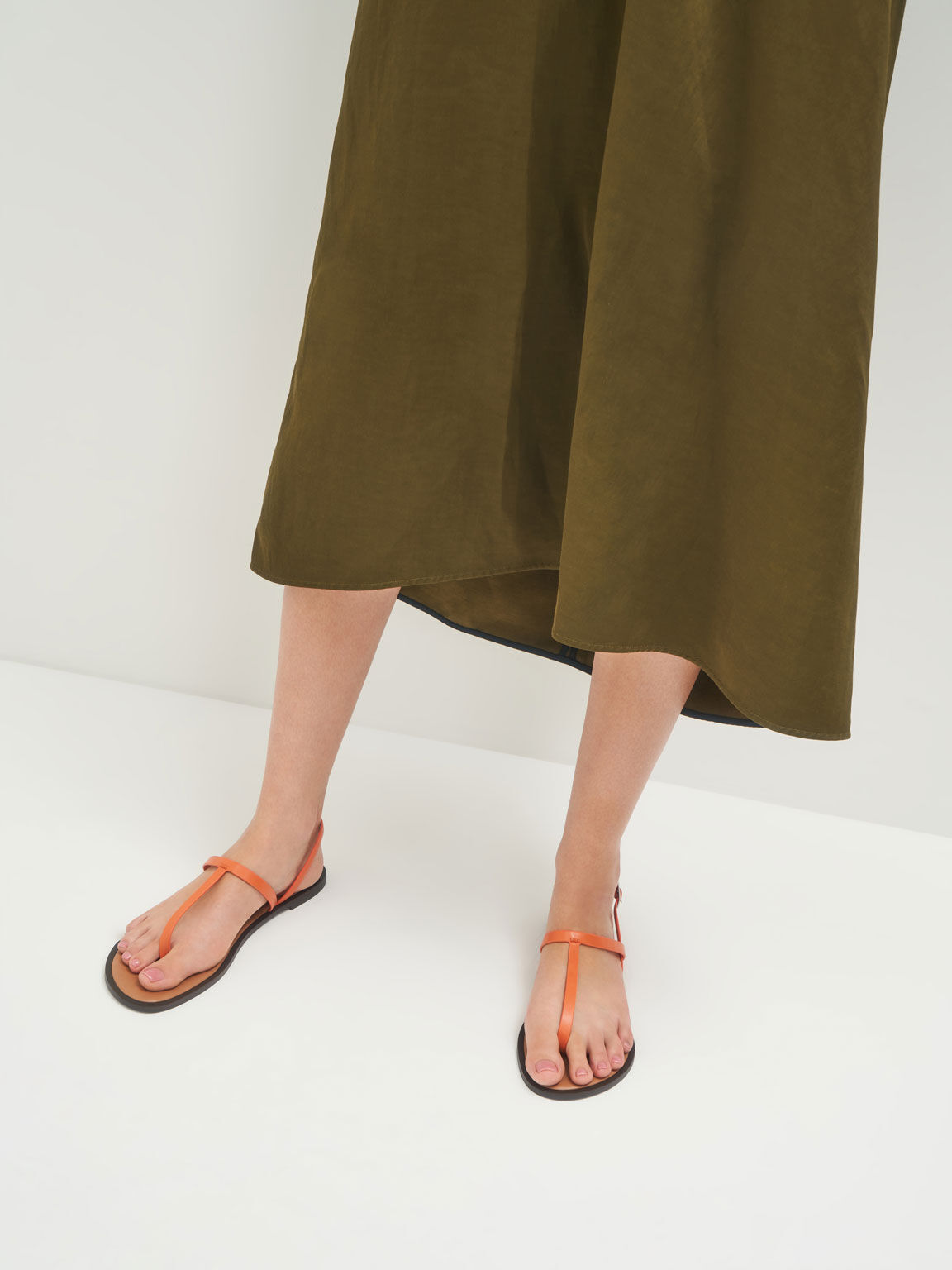 T字夾腳涼鞋, 橘色, hi-res