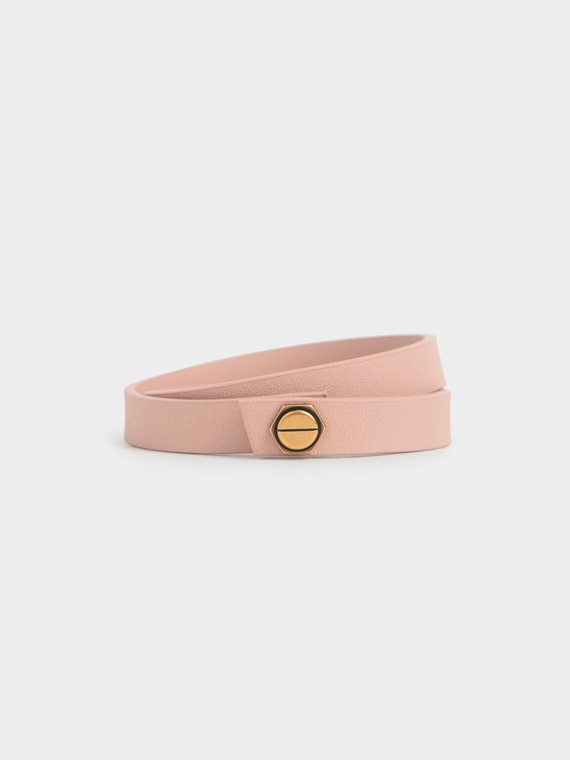 Wrap Around Bracelet, Pink, hi-res