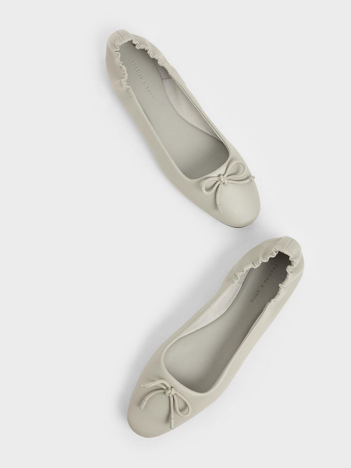 Bow Ballerina Flats, Chalk, hi-res