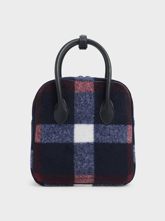 Felt Double Handle Square Tote, Multi, hi-res