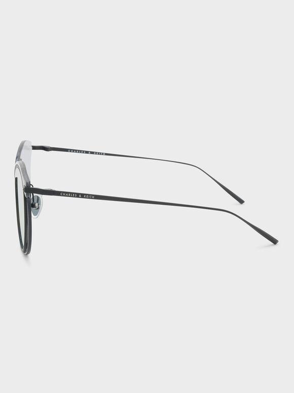 Acetate Frame Sunglasses, Navy, hi-res