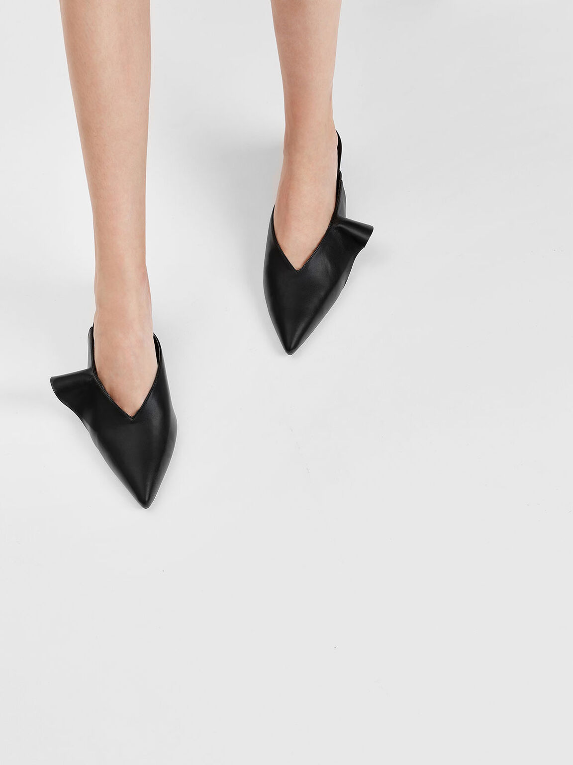 Ruffle Detail Low Wedge Mules, Black, hi-res