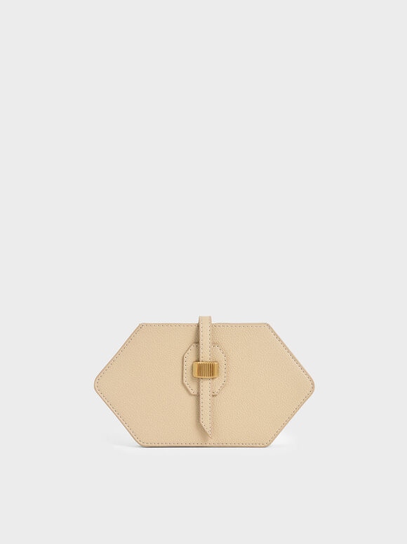 Hexagon Card Holder, Ivory, hi-res