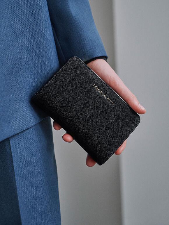 Classic Zip-Around Wallet, Black, hi-res
