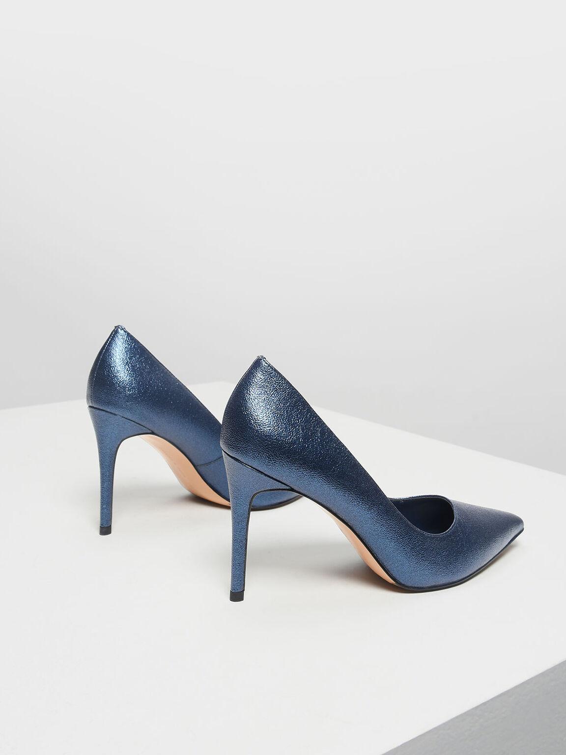 Classic Pointed Toe Pumps, Blue, hi-res