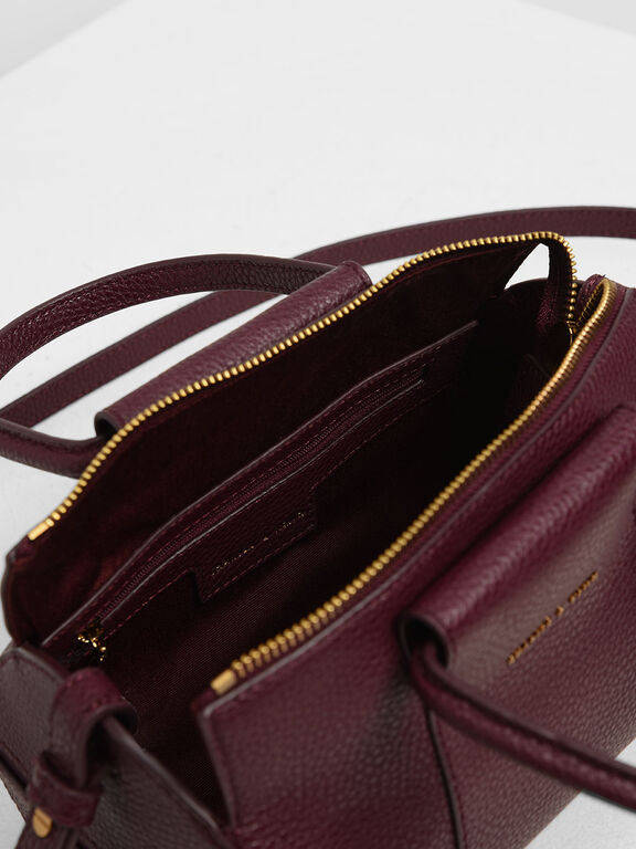 Ring Handle Bowling Bag, Prune
