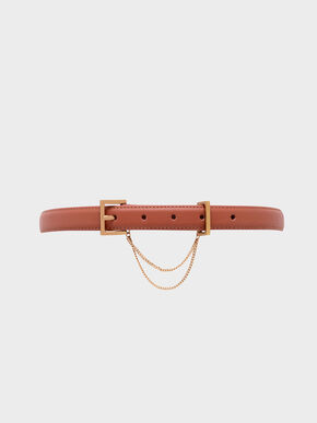 Chain Link Mid Waist Belt, Clay