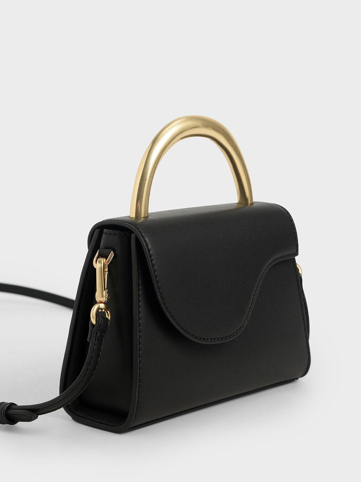Angular Flap Bag, Black, hi-res