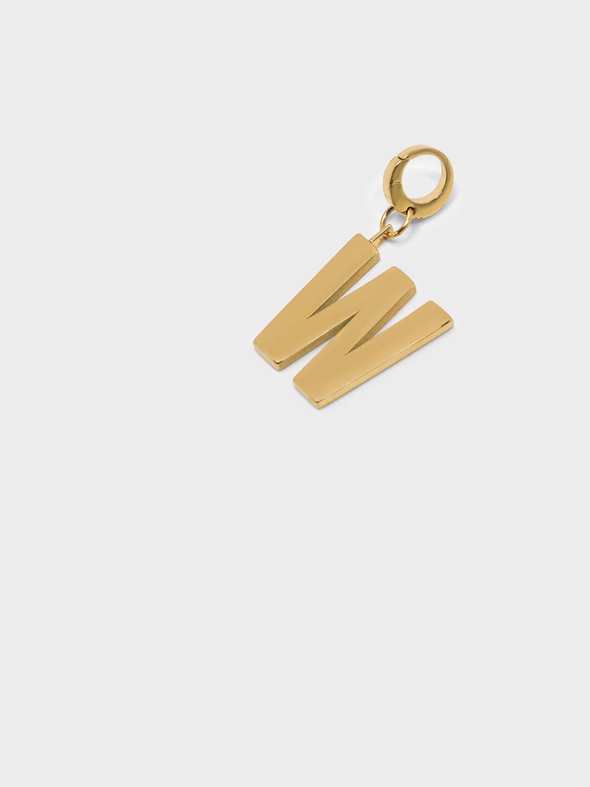 Gold Alphabet Keychain, Gold, hi-res