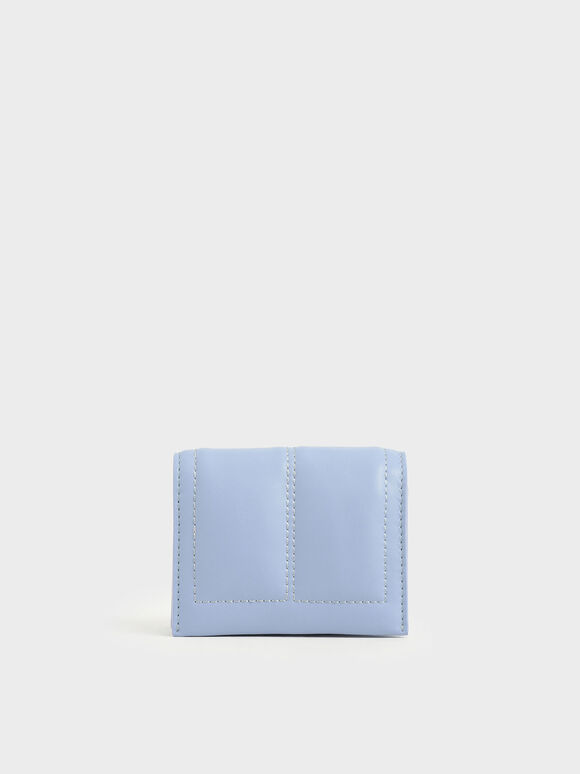 Quilted Card Holder, Blue, hi-res