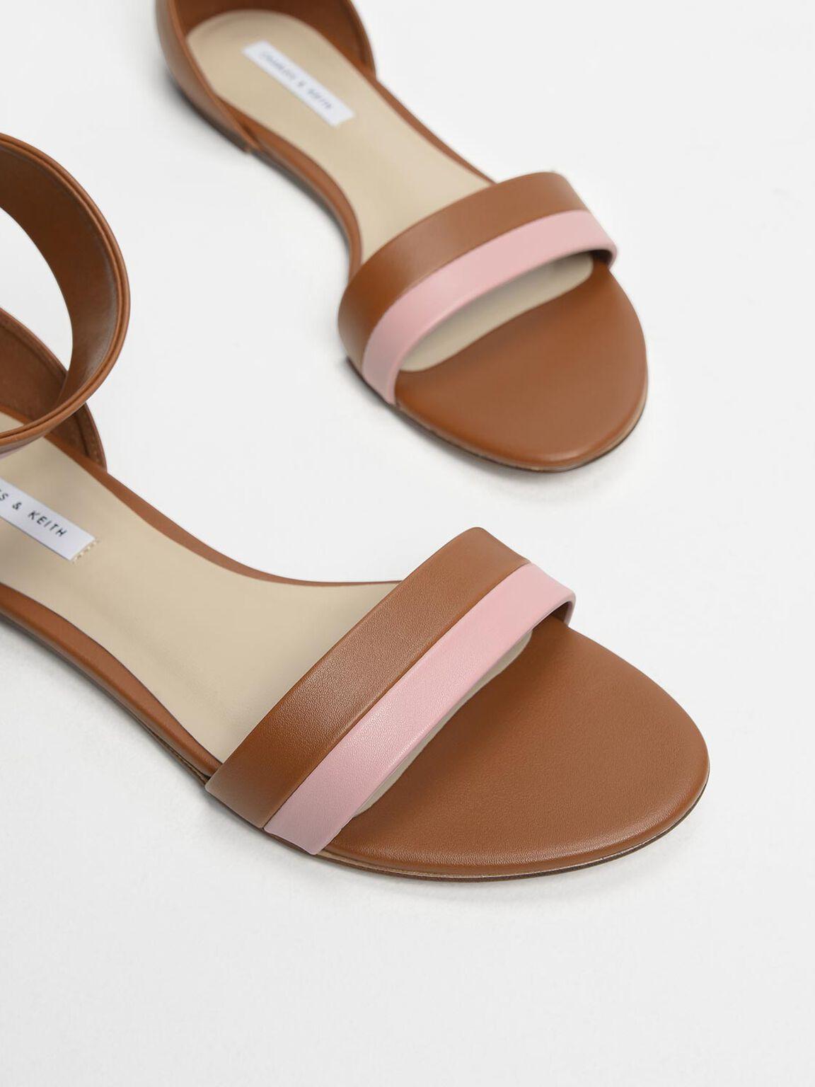 Open Toe Ankle Cuff Sandals, Multi, hi-res