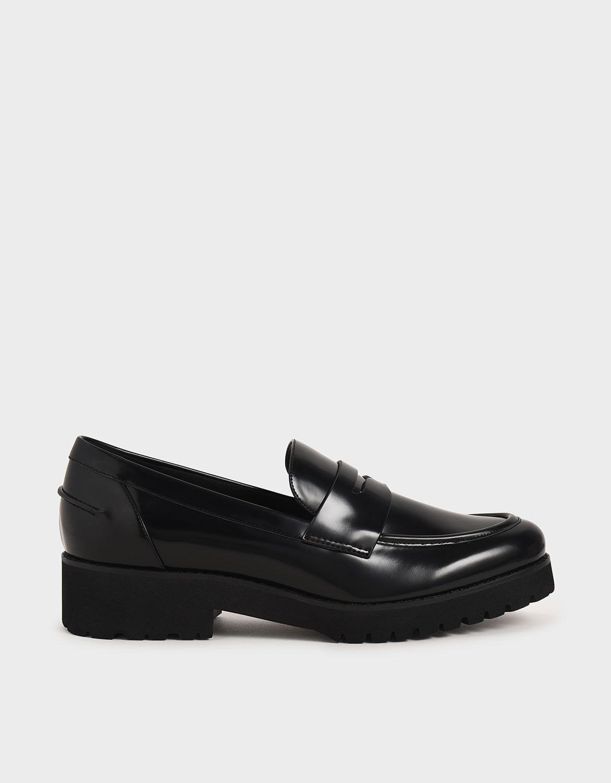 Platform Penny Loafers   CHARLES \u0026 KEITH HK