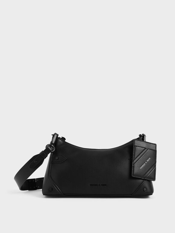 Chain Handle Bag, Ultra-Matte Black, hi-res