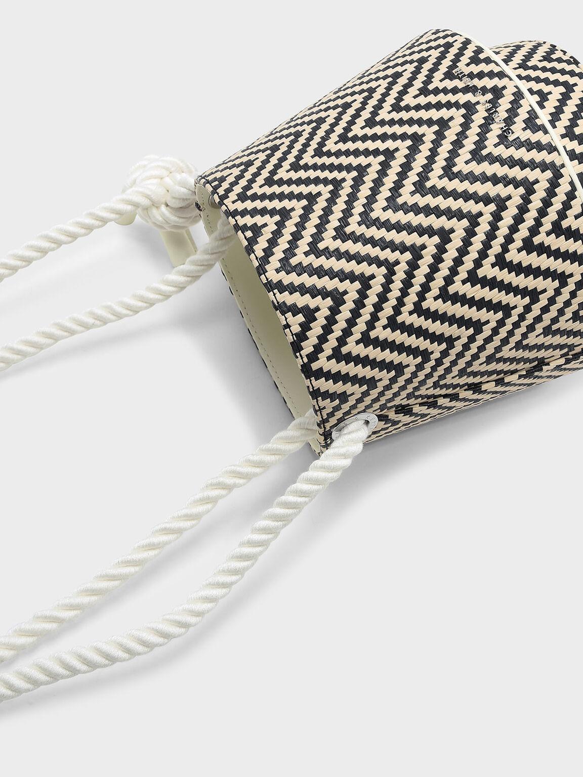 Cylindrical Drawstring Bag, Multi, hi-res