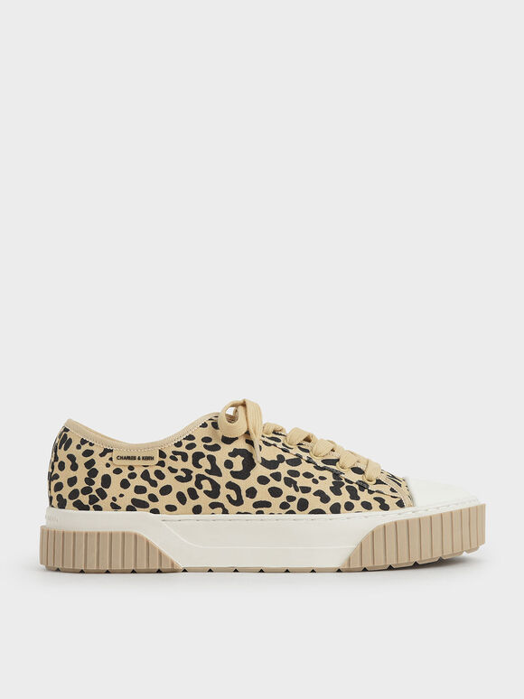 Purpose Collection - Clear Sole Chunky Platform Sneakers, Beige, hi-res