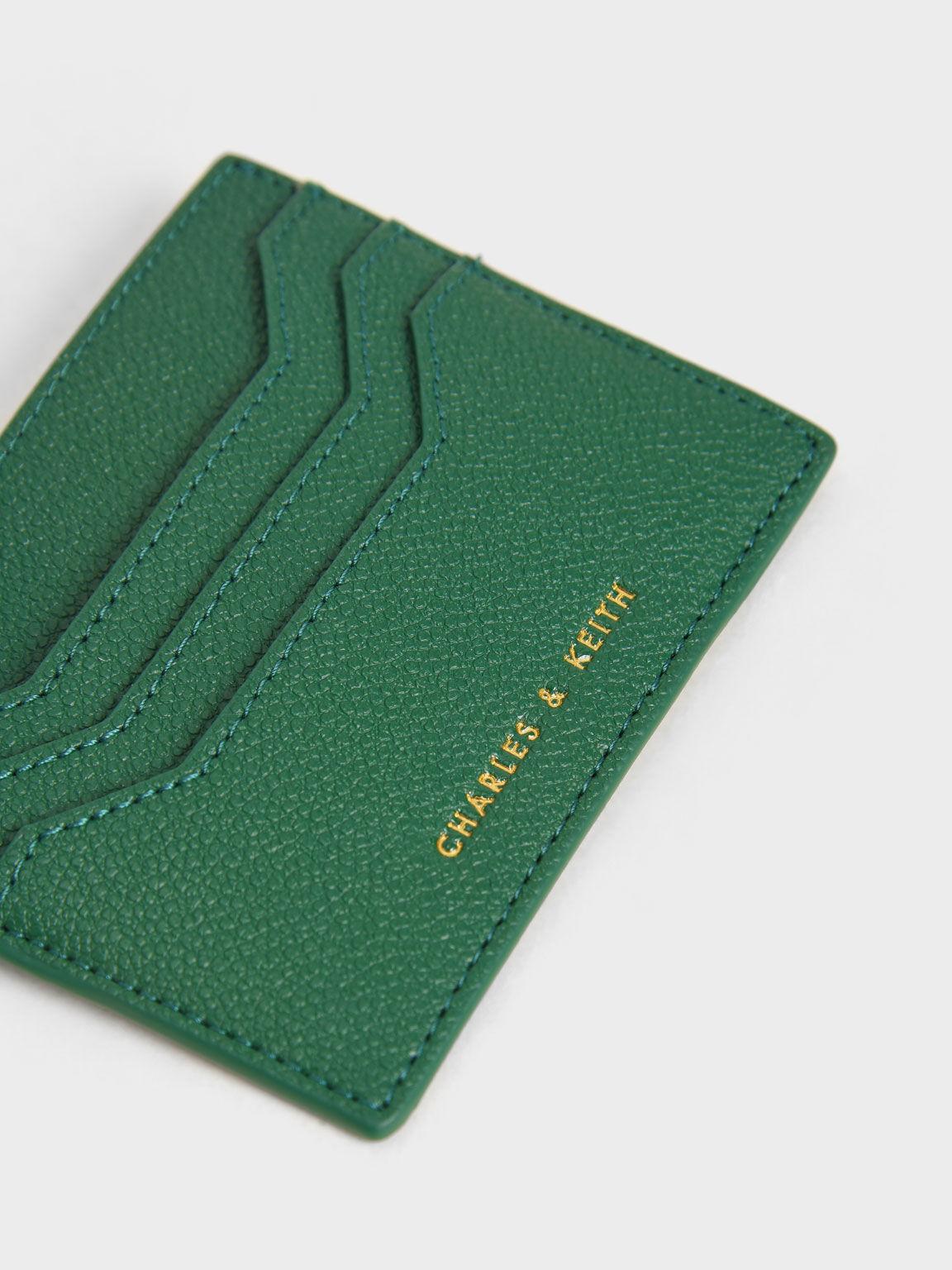 Zip Multi-Slot Card Holder, Green, hi-res