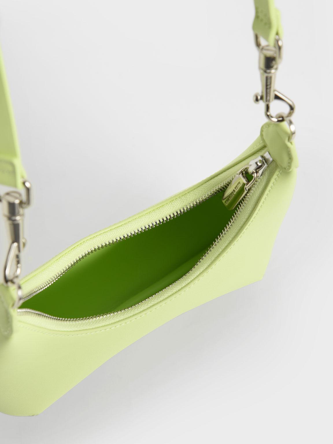 Beaded Handle Hobo Bag, Sage Green, hi-res