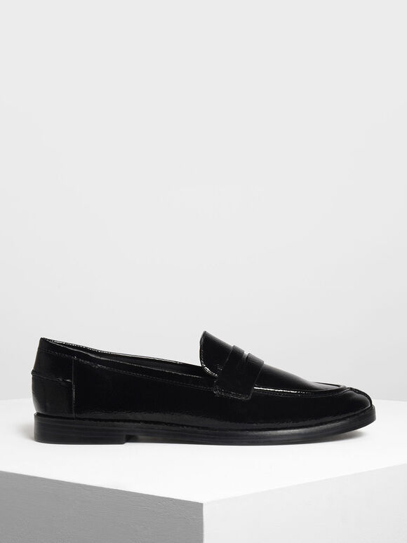 Classic Penny Loafers, Black, hi-res