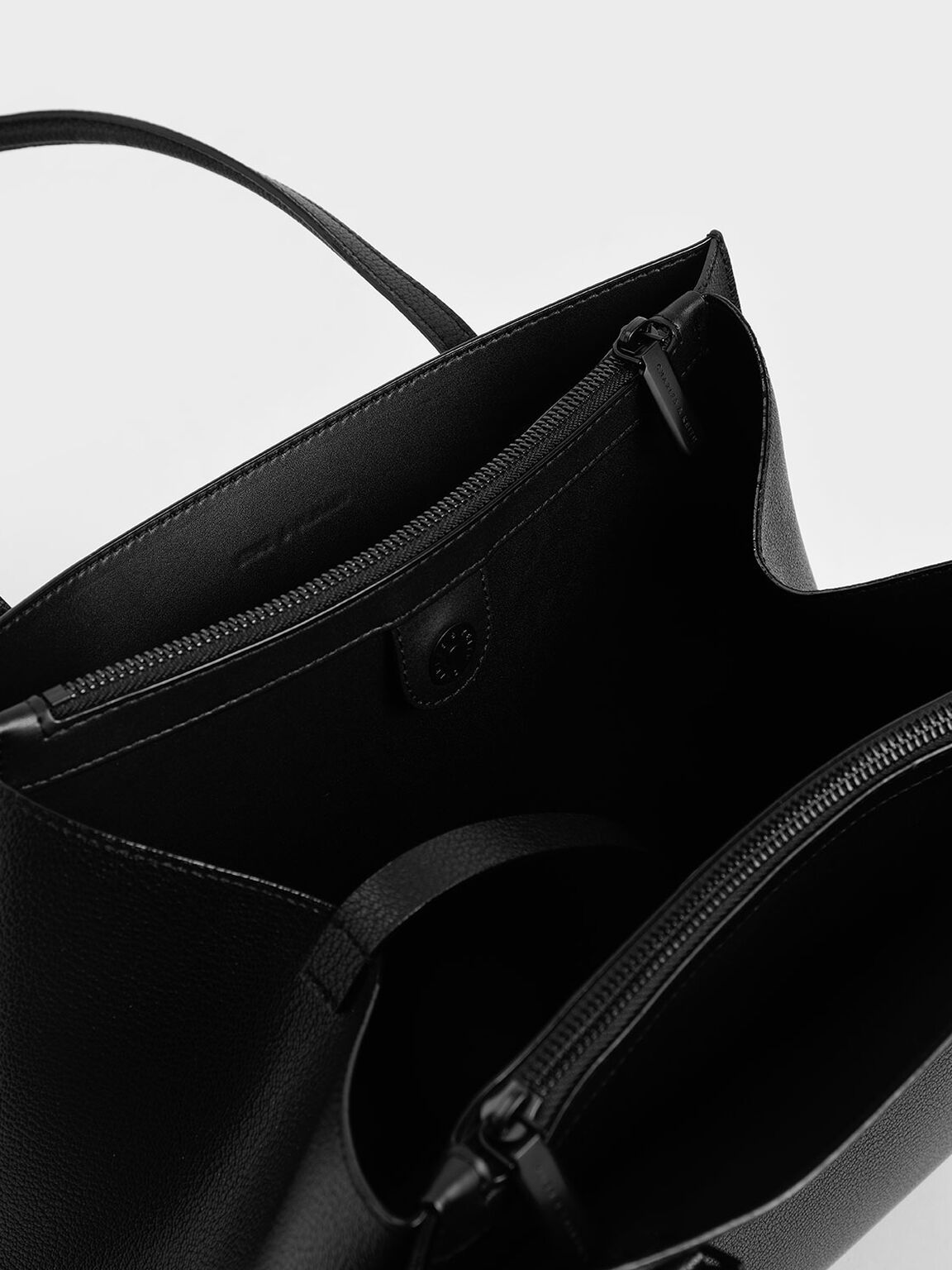 Double Handle Tote Bag, Ultra-Matte Black, hi-res