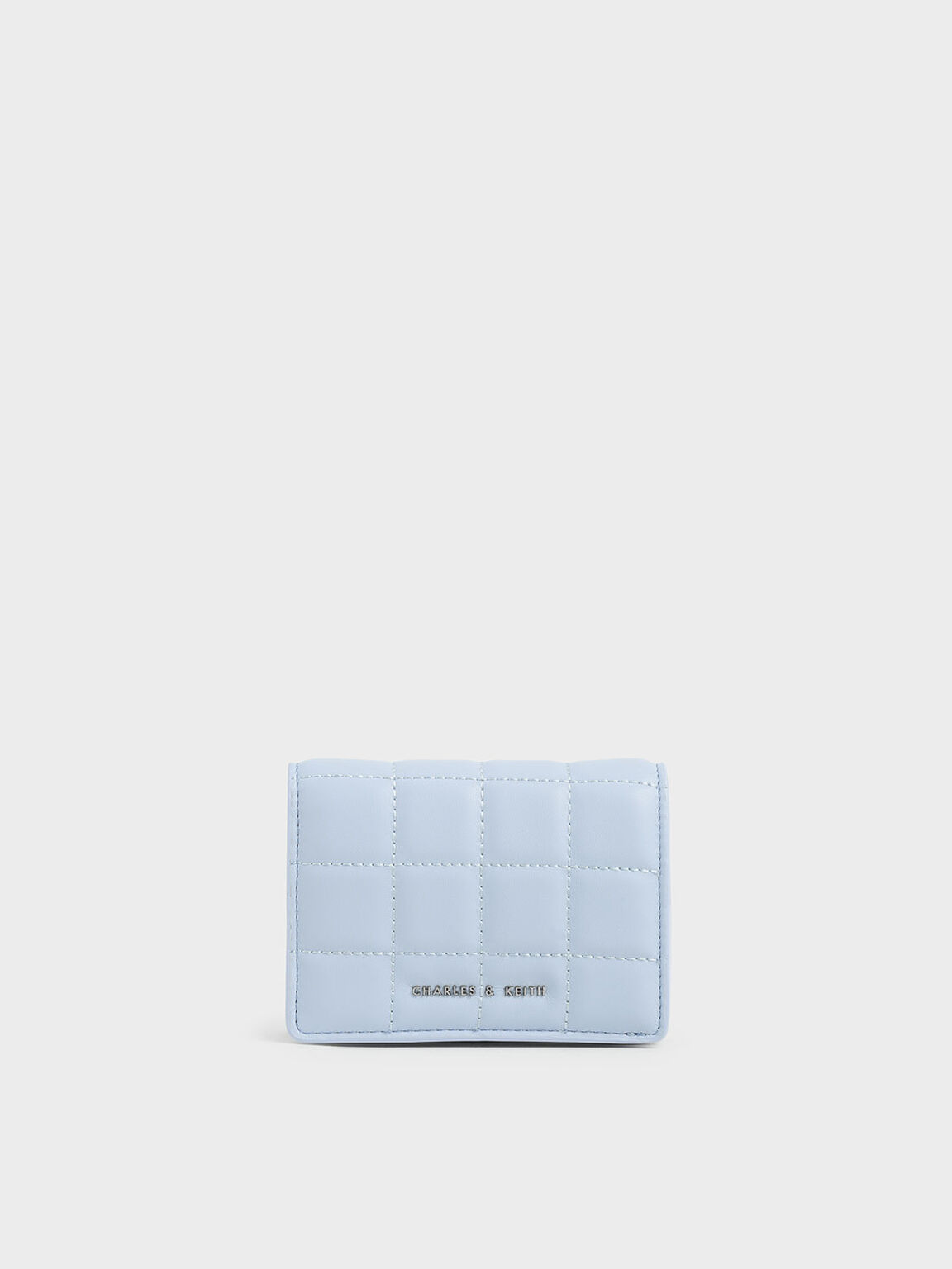 Quilted Mini Wallet, Light Blue, hi-res