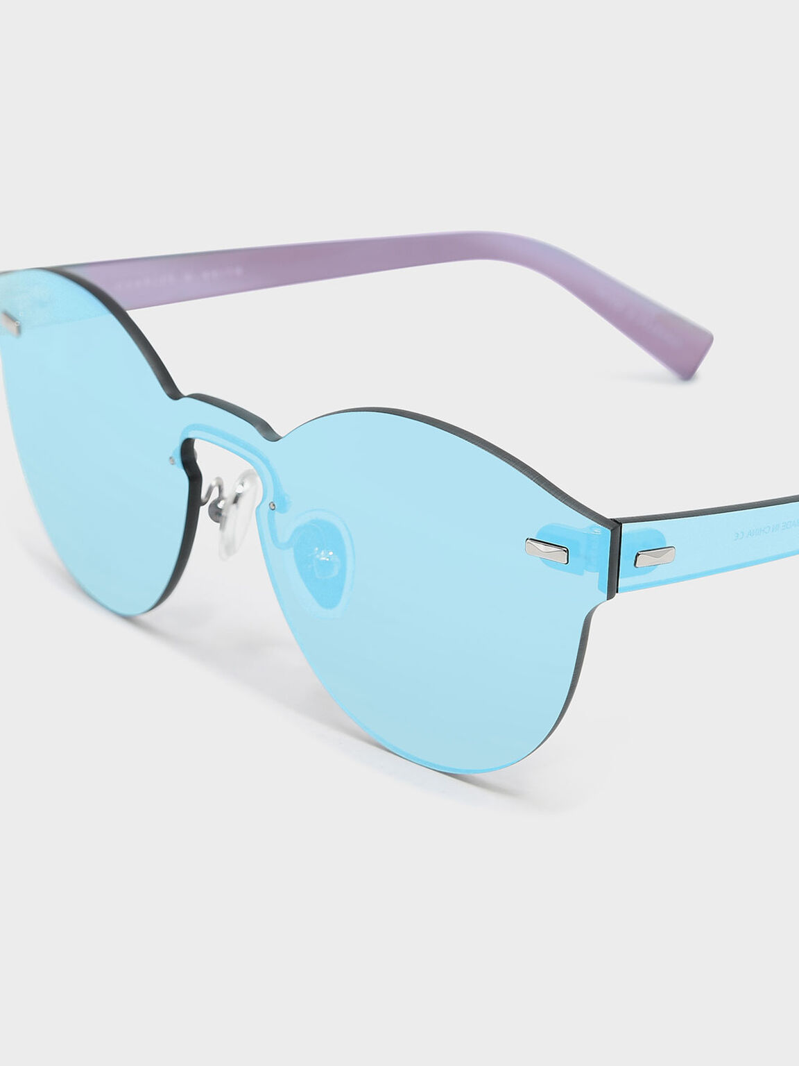 Oval Sunglasses, Blue, hi-res