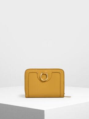 Ring Detail Wallet, Mustard