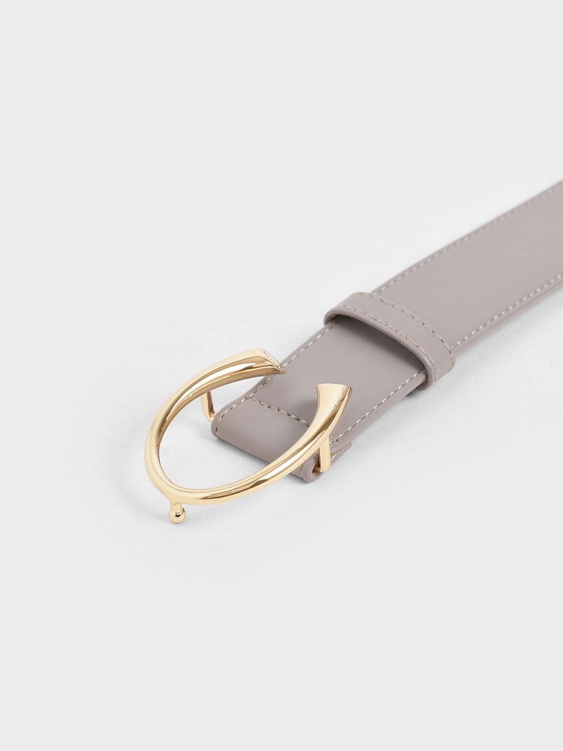 Metal Buckle Low Waist Belt, Sand, hi-res