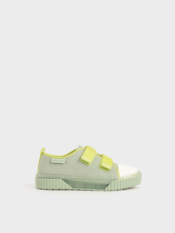 The Purpose Collection - Girls' Clear Sole Low-Top Sneakers, Mint Green, hi-res