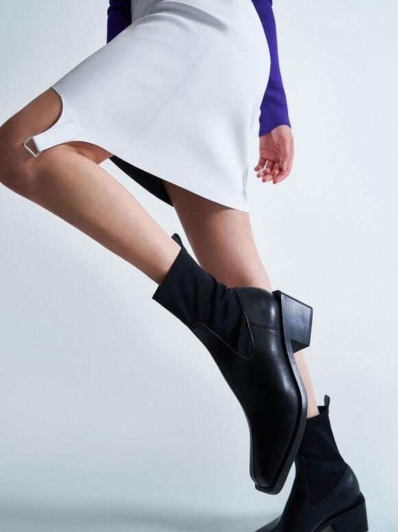 Sock Boots, Black, hi-res