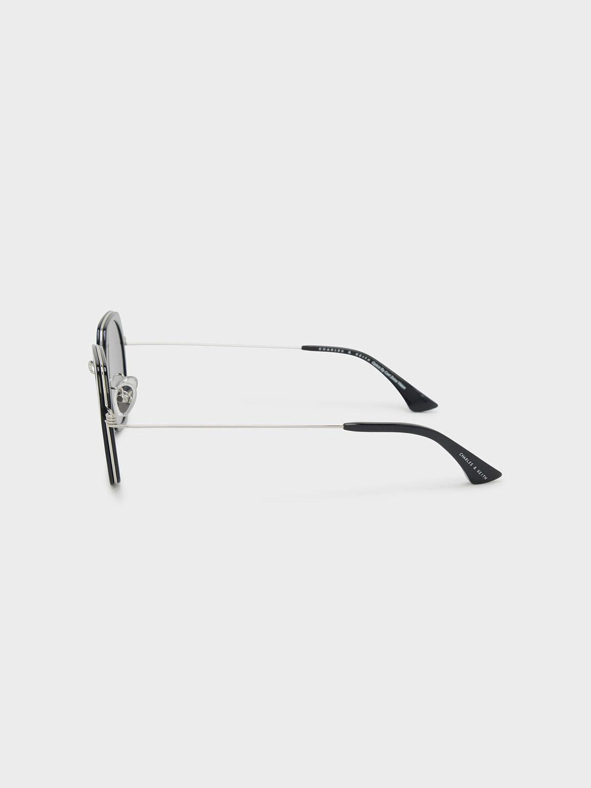 六角框墨鏡, 黑色, hi-res