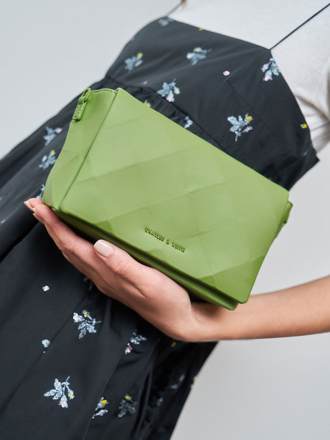 Geometric Crossbody Bag, Green, hi-res