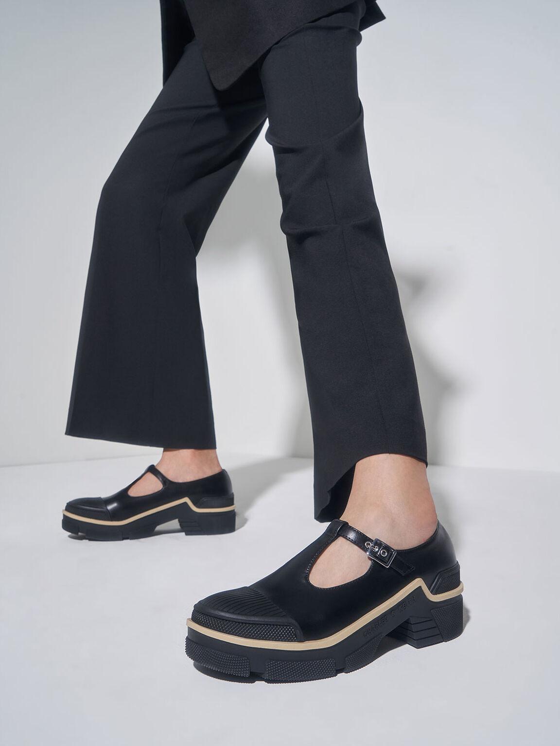 厚底瑪莉珍鞋, 黑色, hi-res