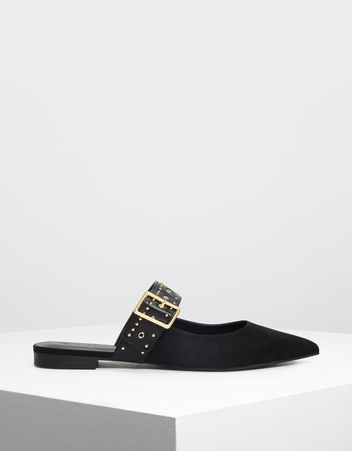 Studded Buckle Mules   CHARLES \u0026 KEITH TW