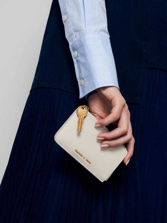 Zip-Around Mini Wallet, Cream, hi-res