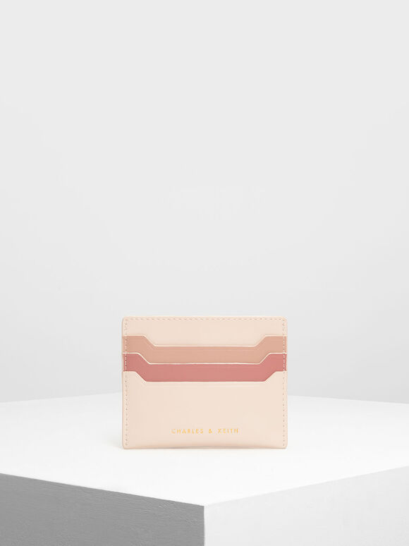 Multicolour Card Holder, Light Pink, hi-res