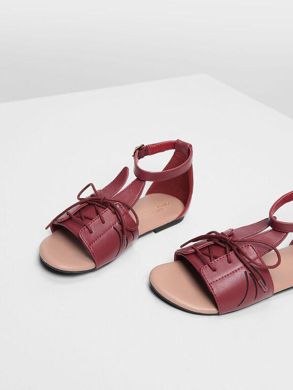 Kids Bunny Sandals, Red