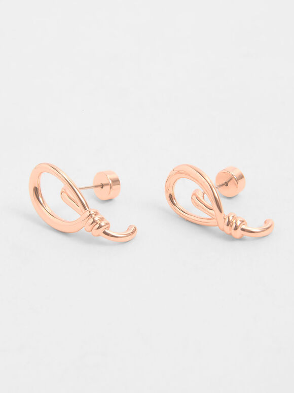 扭結耳環, 玫瑰金, hi-res