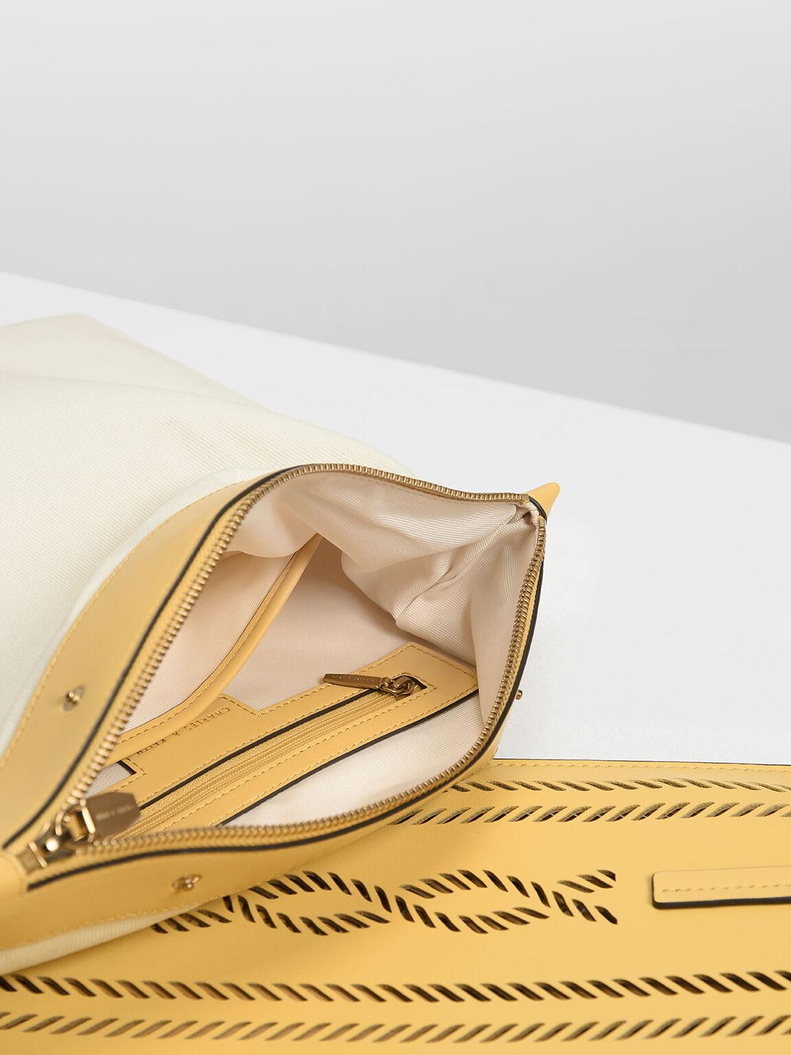 Laser-Cut Tote Bag, Yellow, hi-res