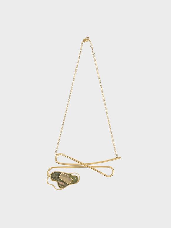Semi-Precious Stone Necklace, Sand, hi-res